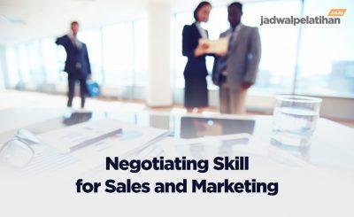Pelatihan Negotiation Skill untuk Sales dan Marketing